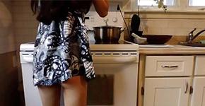 โดนเย็ดในห้องครัวโดยแฟนฝรั่งของเธอ